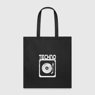 Turntable techno turntables in grunge - Tote Bag