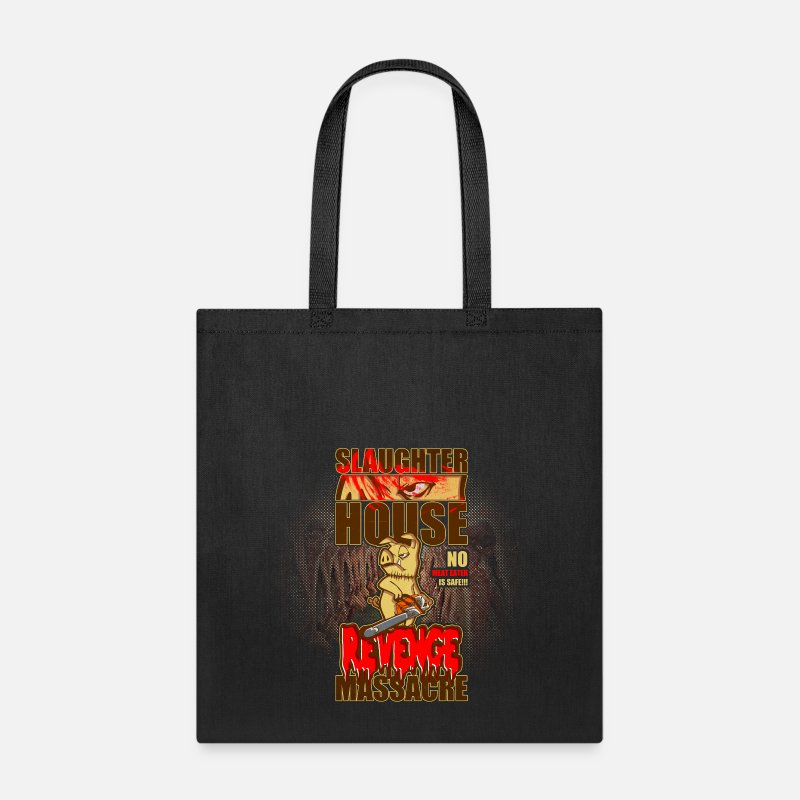 Horror Bags & backpacks - evil animals: the chainsaw pig - Tote Bag black