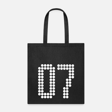 Jersey Number 07, Numbers, Football Numbers, Jersey Numbers - Tote Bag
