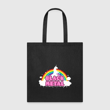 BLACK METAL! (Funny Unicorn / Rainbow Mosh Parody - Tote Bag