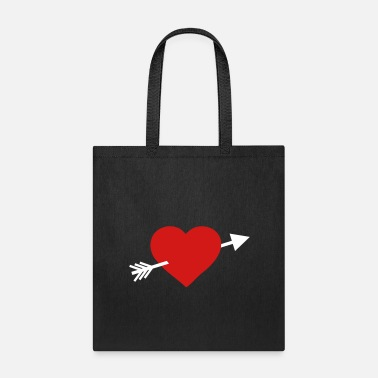 Arrow Heart with arrow - Tote Bag