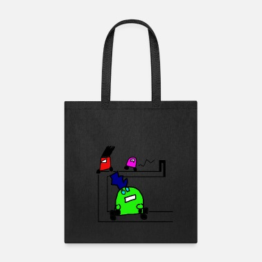 Autocross Robot Cartoon - Tote Bag