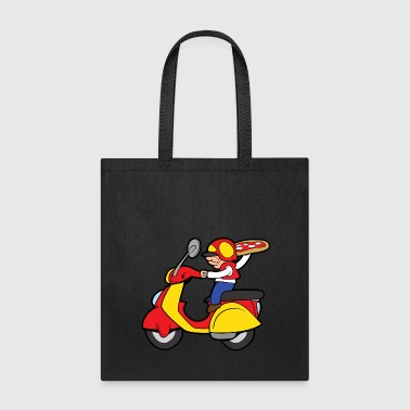 Pizza Delivery Service Motorcycle Motorbike - Tote Bag