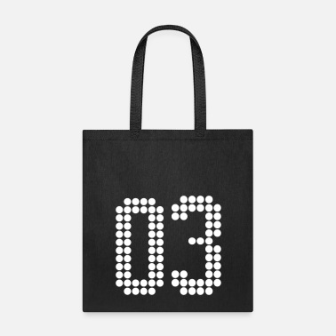 Jersey Number 03, Numbers, Football Numbers, Jersey Numbers - Tote Bag