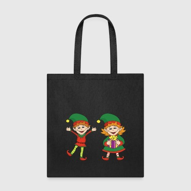 Christmas Xmas Elf Elves - Tote Bag