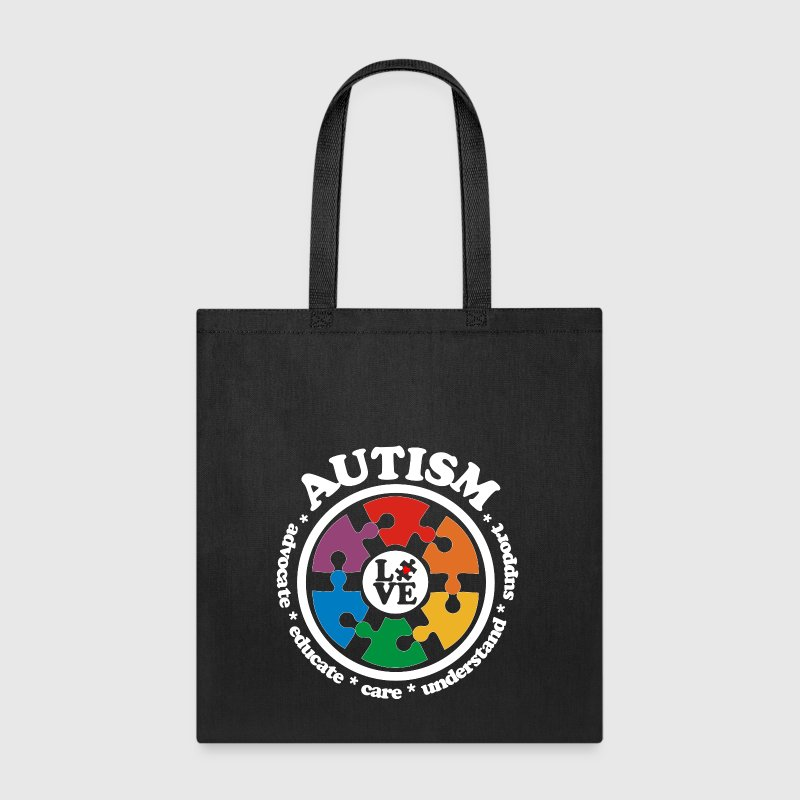 LOVE Autism Awareness Drk - Tote Bag