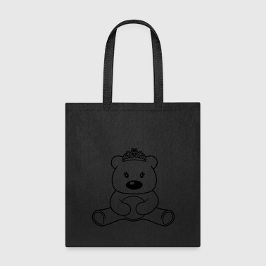 Female princess girl queen crown cute female girl bear sw - Tote Bag