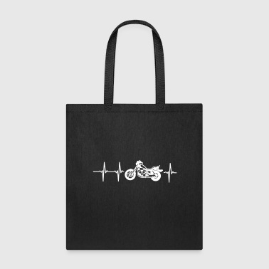 MY HEART BEATS FOR MY MOTORCYCLE! - Tote Bag