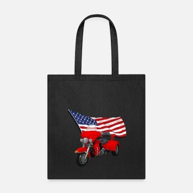 Trike with Flag - Tote Bag