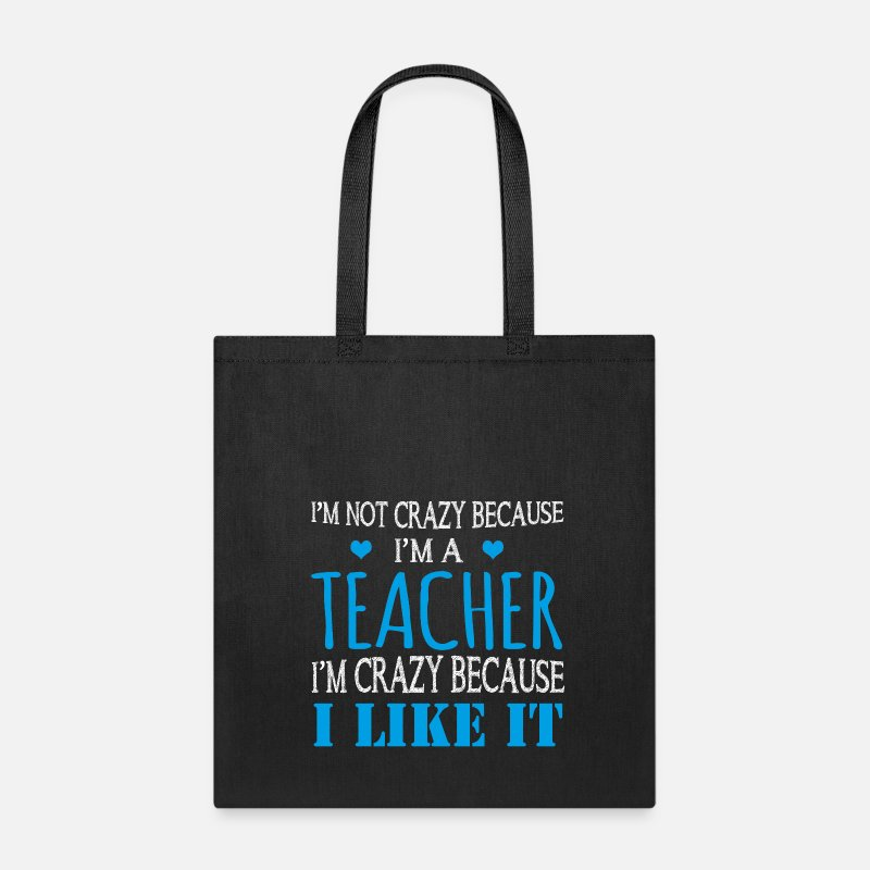 Back To School Bags & backpacks - Teacher I like it - new - Tote Bag black