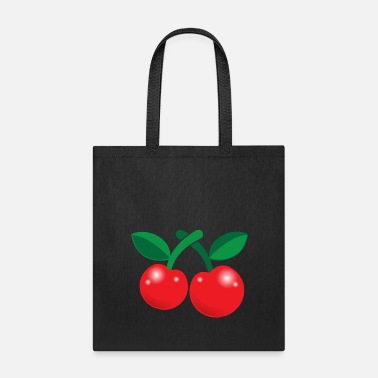 Rockabilly RED cherries rockabilly so cute! - Tote Bag