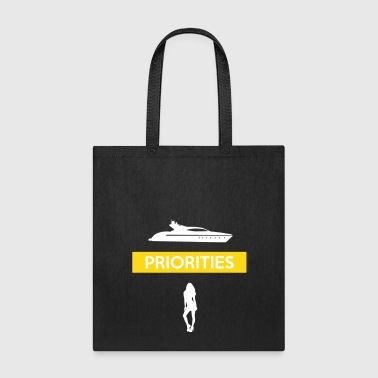 PRIORITIES yacht woman - Tote Bag