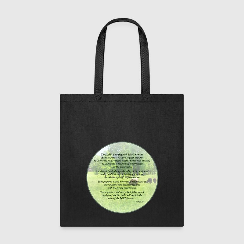 Psalm 23 The Lord Is My Shepherd - Tote Bag