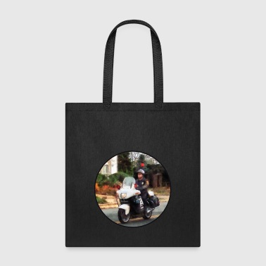 Motorcycle Cop on Patrol - Tote Bag