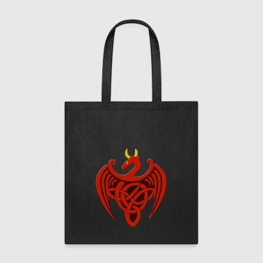 Red Celtic Dragon - Tote Bag