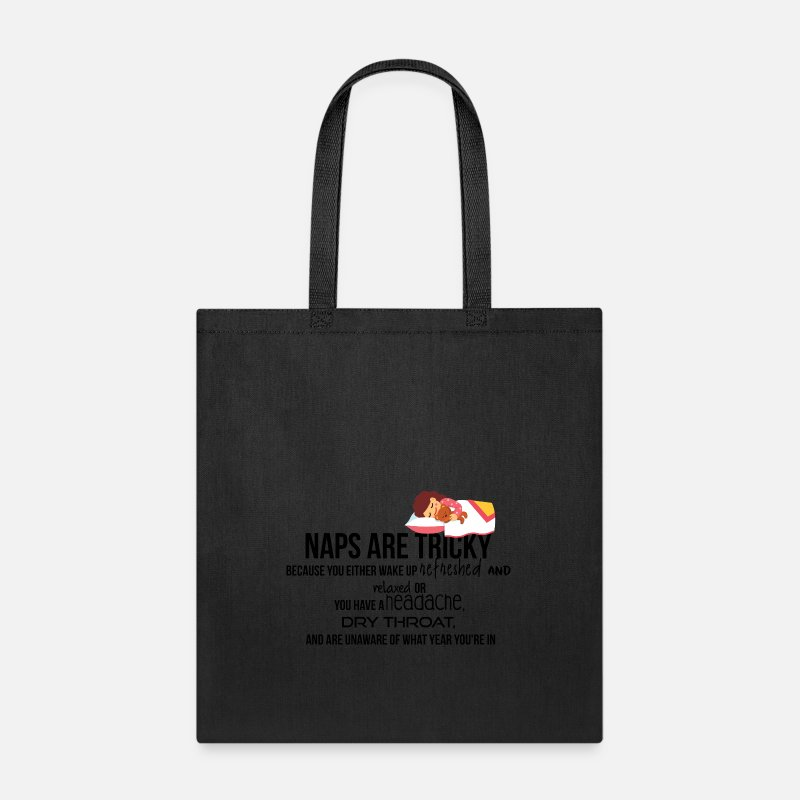 Tricky Bags Backpacks Naps Are Tote Bag Black