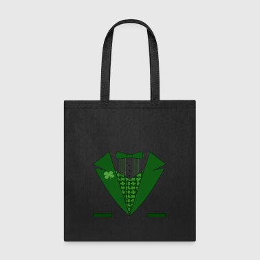 Irish Evergreen Bow Tie - Tote Bag
