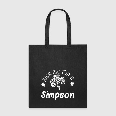 Simpsons Kiss Me Im A Simpson Saint Patrick Day - Tote Bag