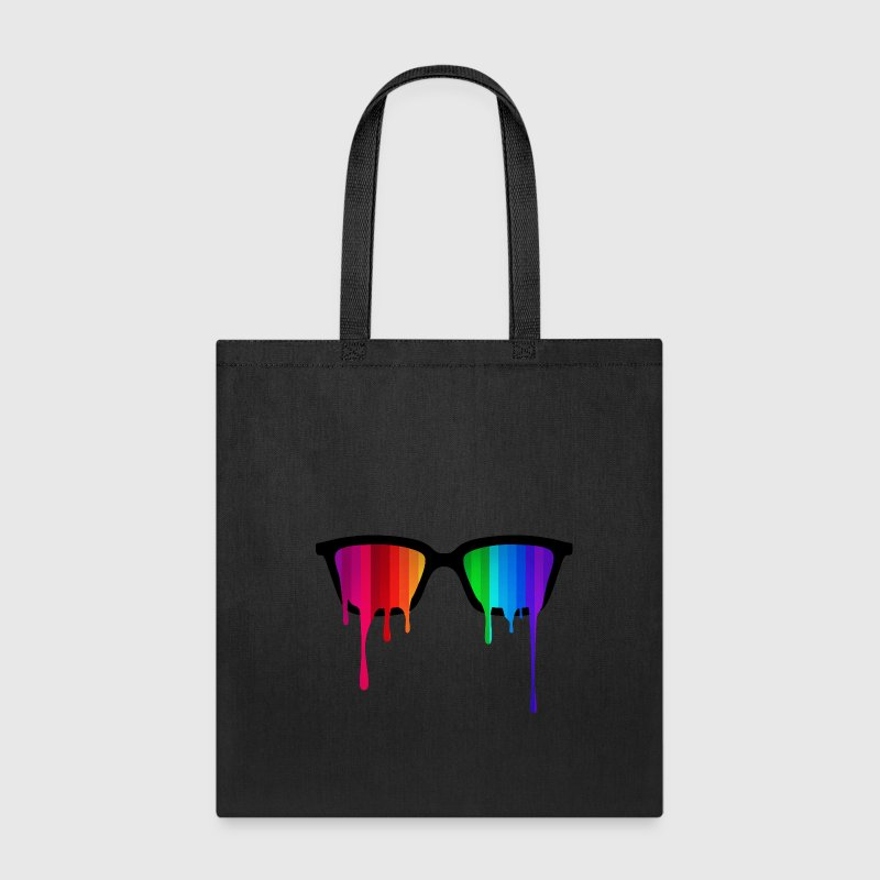 Rainbow - Spectrum (Pride) / Hipster Nerd Glasses - Tote Bag