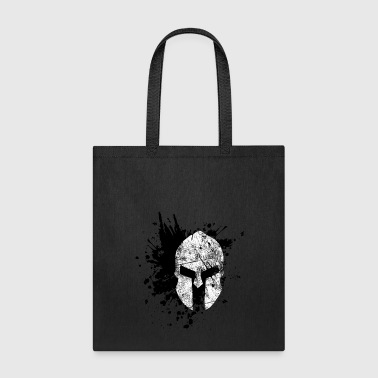 spartan with blood black - Tote Bag