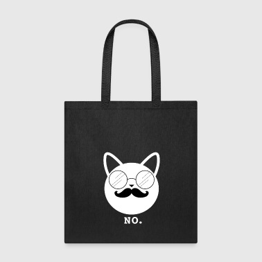 Hipster Cat No (w) - Tote Bag