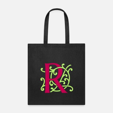Alphabet DIY FlexColor™ Monogram R • A4-2 – 2 Colors - Tote Bag