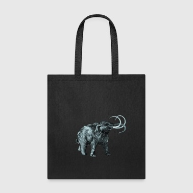 The mammoth, Primal elephants from the past. - Tote Bag