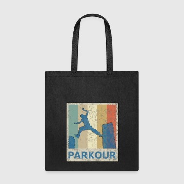 Vintage Retro Style Le Parkour Running Freerunning - Tote Bag