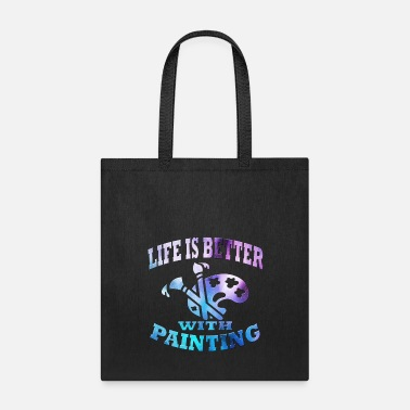 Paint Brush Painting - Tote Bag