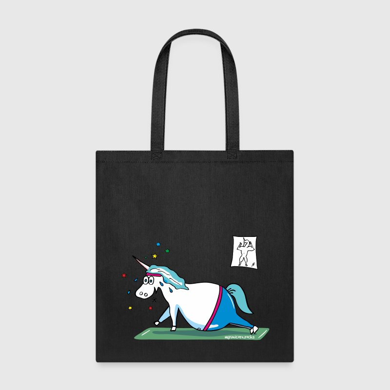 Unicorn doing sports, yoga unicorn - Tote Bag