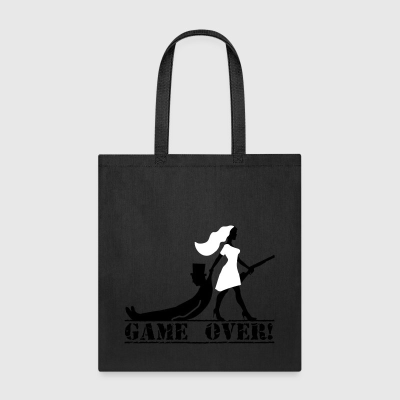 game over bride and groom - Tote Bag
