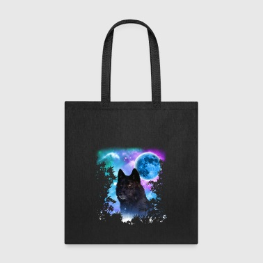 Black Wolf MidNight Forest - Tote Bag