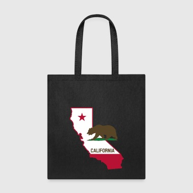 CALIFORNIA STATE WITH STATE BEAR - Tote Bag