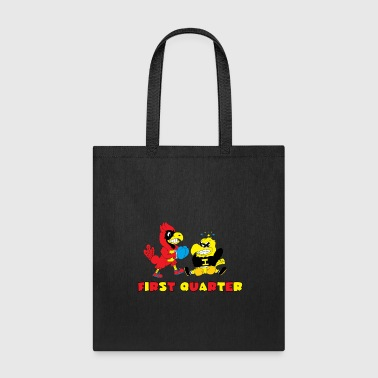Knock Out Cardinal knocking out a hawk - Tote Bag