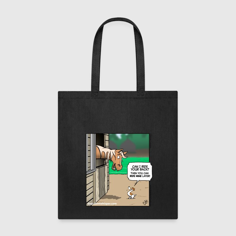 Jack Russell Terrier & Horse (Dogs Don't Whisper) - Tote Bag