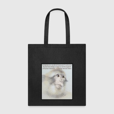 Macaque - Don't Test On Animals - Tote Bag