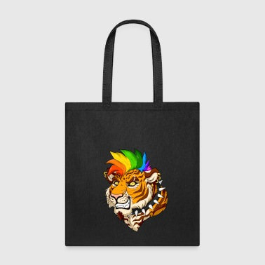 Punk/Mohawk Tiger - Tote Bag