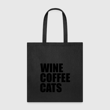 wine coffee cats - Tote Bag
