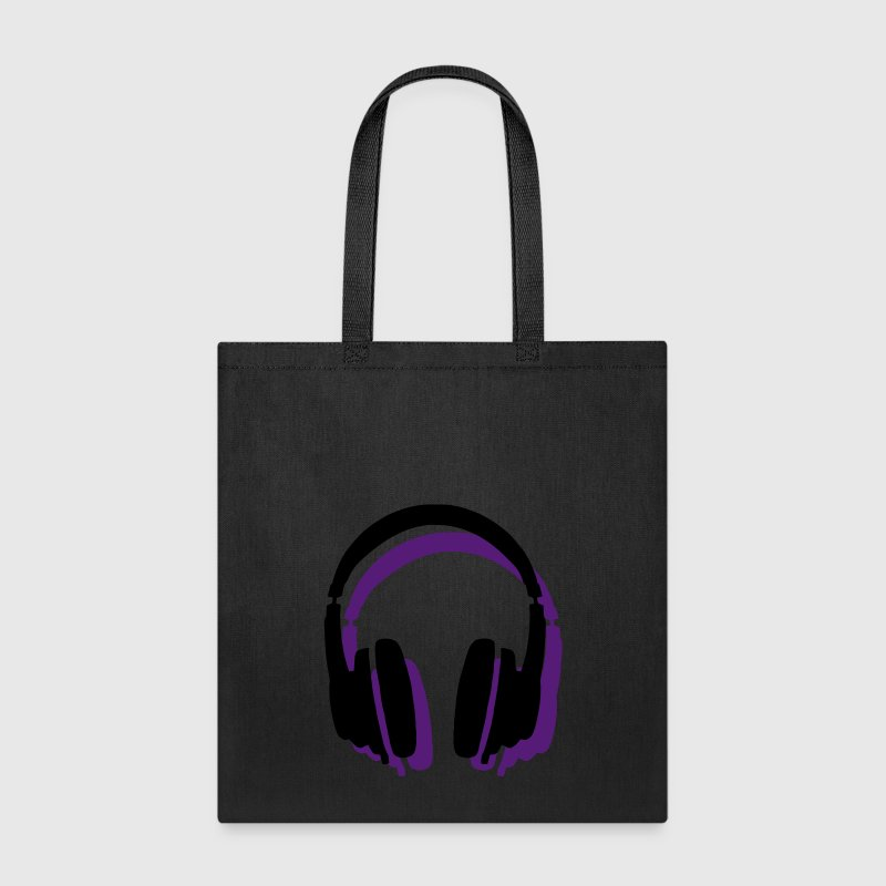 Headphones Shadow - Tote Bag