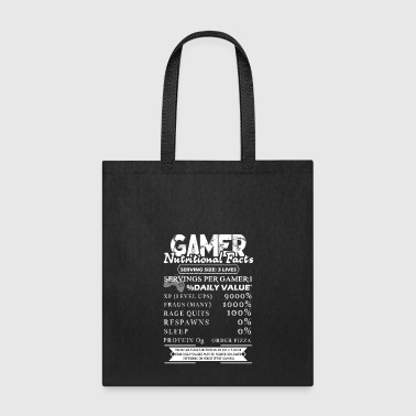 Gamer Gamer Nutrition Facts Shirt - Tote Bag