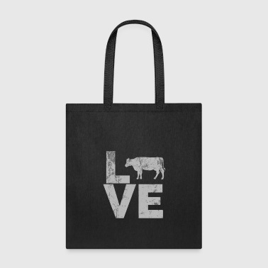 I Love Cows distressed - Tote Bag