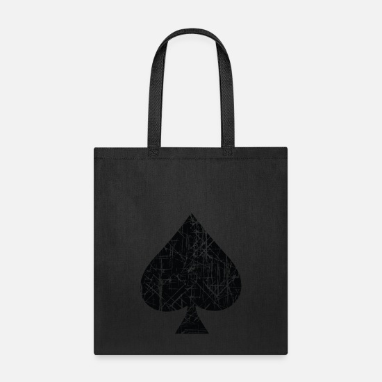 Ace Bags & Backpacks - Spades Sign Design - Tote Bag black
