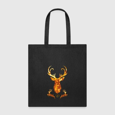 antler deer christmas xmas glamour gold swagg rich - Tote Bag