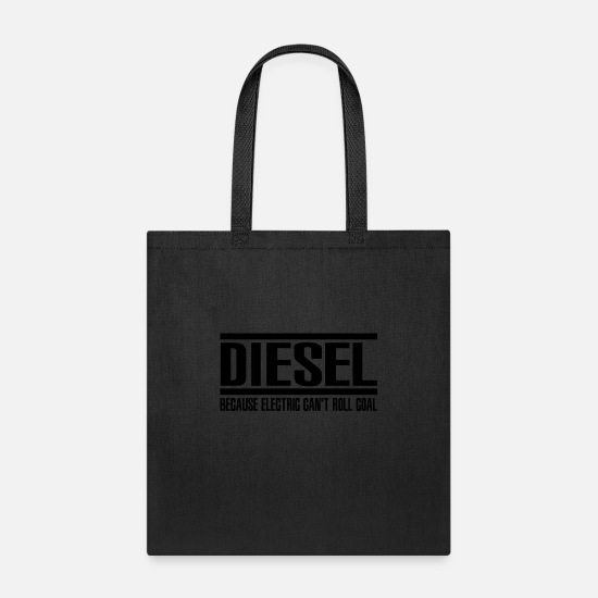 Diesel Bags & Backpacks - Diesel Can't Roll Coal - Tote Bag black