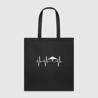 Heartbeat pulse hang glider gift - Tote Bag