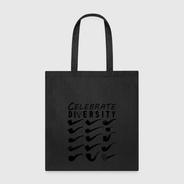 Pipe Smokers T Shirt Celebrate Diversity - Tote Bag