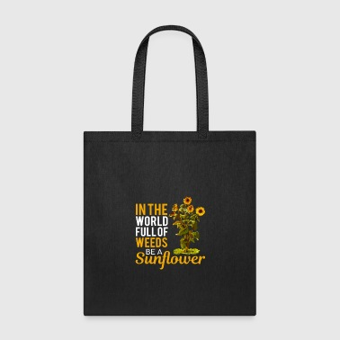 Sunflower Mental Flower Power Gift Positive Happy - Tote Bag