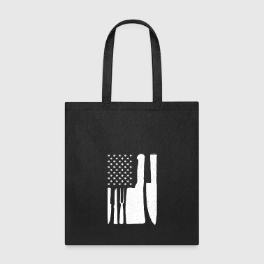 USA Flag Knife - Patriotic American Cooking Gift - Tote Bag