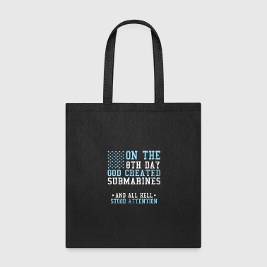 Independence Day 4th of July God Created Submarine - Tote Bag