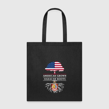 American Grown with Oaxacan Roots Mexico Design - Tote Bag